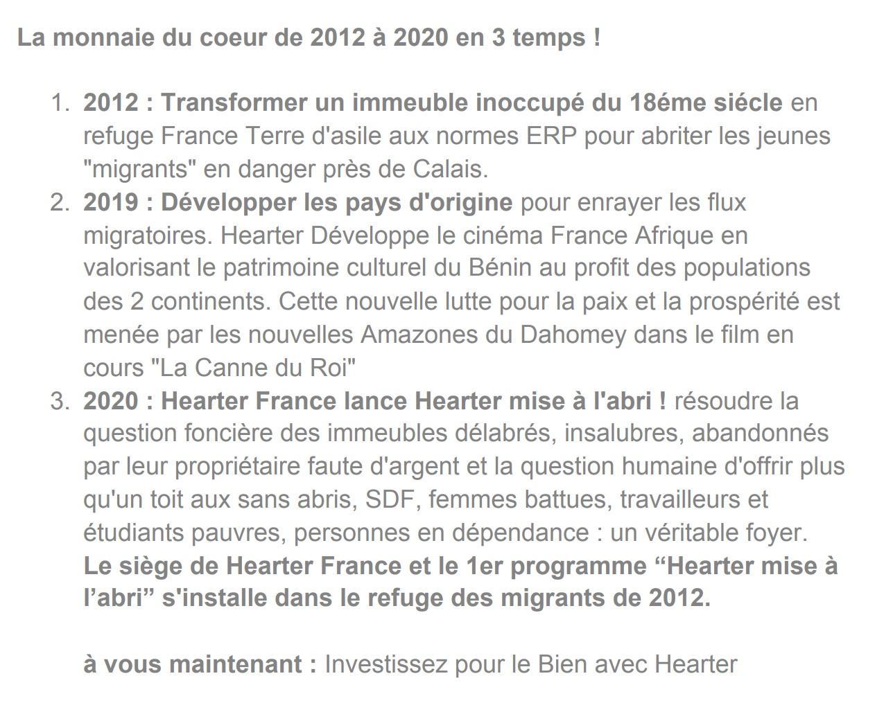 Texte monnaie du coeur 2012 2020